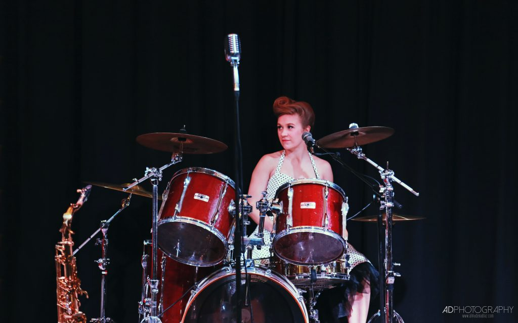 Sarah on Drums for The Daisy Chains