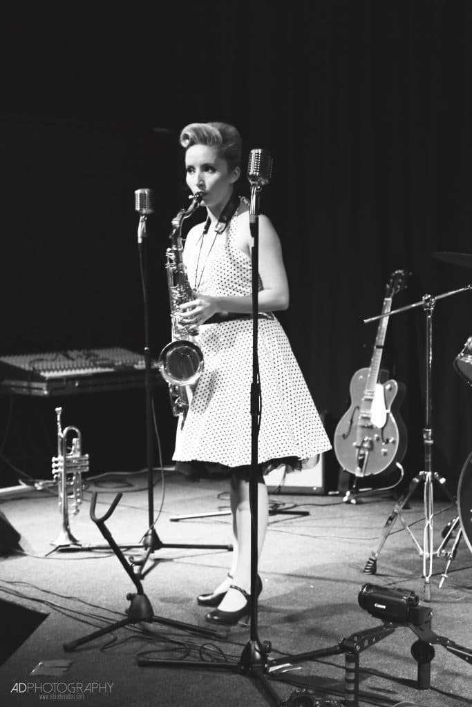 Sophie playing Tenor Saxophone for The Daisy Chains